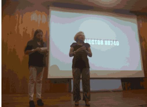 Llanos (Derecho a Vivir Castellón) y Conchita (Pro-Vida Castellón)