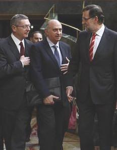 Ruiz Gallardón, Jorge Fernández Díaz y Mariano Rajoy